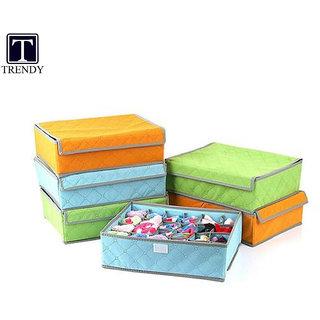 Trendy Set Of 3 Foldable Drawer Dividers, Storage Boxes, Innerwear Storage  Box, Closet