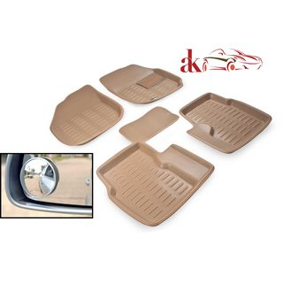 3D Mat For Maruti Suzuki Swift + FREE 2Pcs Blind Spot Mirror