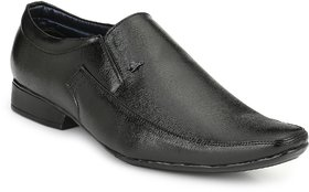 Real Blue Men Leather Slip On Formal Shoe