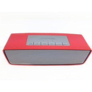 Portable Wireless Bluetooth Multimedia Speaker System with Microphone/ Pen Drive / SD Card /  (Sound Link Red)