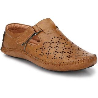Real Blue men Trendy Leather Buckle Sandal