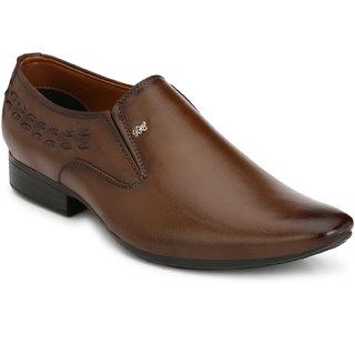 Real Blue Men Leather Slip On Formal Shoe