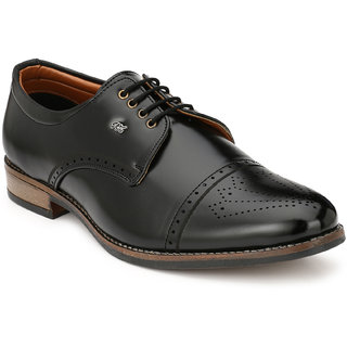 Real Blue Men Leather Tredy Formal Lace up Shoe
