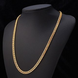 Double kadi Chain For Men's (22 Inches) 24k Gold Plated, 15gm Weight With Surprise Gift And 1 Year Re-Plating Warranty