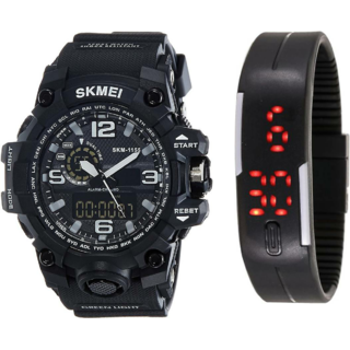 Skmei Sports Analog and black rubber Watch For Men