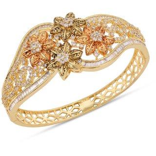 Tistabene Floral Antique Designer Stylish Latest Trendy Openable Bracelet For Women and Girls (BR-0614)