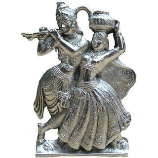 Sai Enterprises Silver Lord Radha Krishna Idol ( Size  15 cm x 12 cm x 12 Cm)
