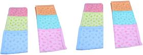 Wishkey New Born Baby Printed Cotton Handkerchief Set Of 12