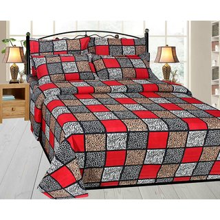 Angel homes 3D Designer Printed Double Bedsheet with 2 Pillow Cover