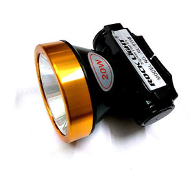 Rocklight 20 Watts Premium Range LED Headlight Rechargeable Torch for Night Vision Cycling, Skating, Home and Industry