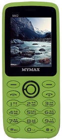 Mymax M42 Dual Sim Feature Phone With Open FM Green Col