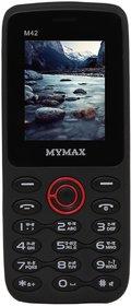 Mymax M42 (Dual Sim, 1.77 Inch Display, 1000 Mah Battery, Black-Red)