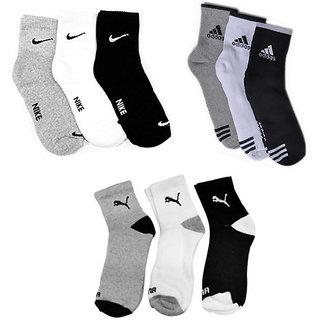 Branded Men Ankle Length Socks (pair of 9 )