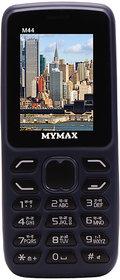 Mymax M44 Dual sim Feature phone with Open FM Blue Colour