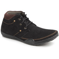 Foot N Style Men's Black Lace-Up Casual Shoes