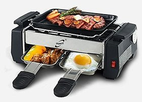Electric Frying pan / electric barbeque grill With omlet maker