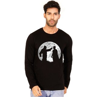 Batman v Superman Jet Black Graphic Full Sleeve T Shirt