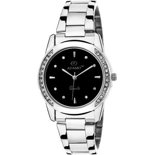 Adamo Designer Black Dial Women's Wrist Watch A325SM02