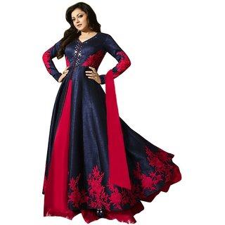 Om Fassion Women's Banglory Silk Anarkali Lehenga Choli