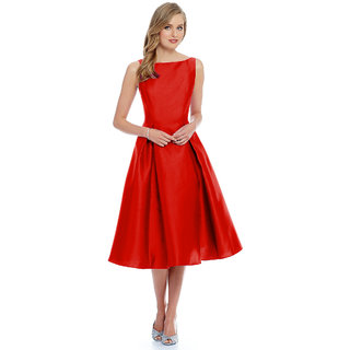 c5cda39c3 Buy Harshita Creation Red Exclusive Designer Western Dress Online ...