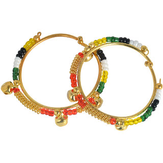 Memoir Gold Plated Colourful Beaded Free Size Bracelet Nazariya Child Jewellery For Kids 0