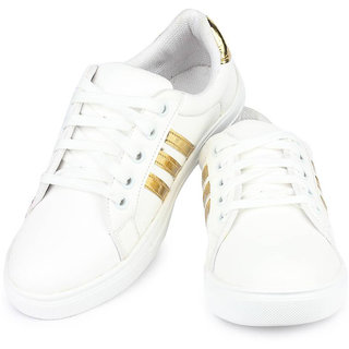Super Women White Casual Sneaker Shoes