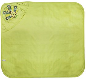 Tumble Hooded Towel Peacock Embroidery - Green
