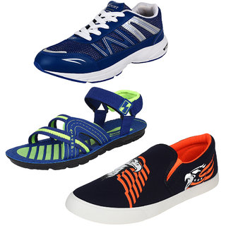 Bersache Men/Boys Combo pack of 3 Sports Shoe With Casual Shoes  Sandals