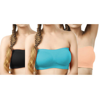 Hothy Perfect Women's Tube Bra (Pack Of 3)