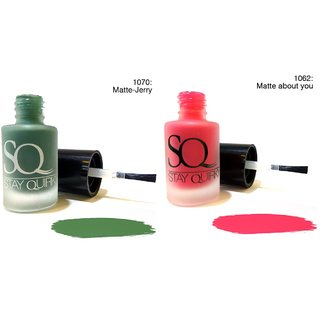 Stay Quirky Combo Nail Polish Matte Pastel Matte Jerry 1070 (6 ml) + Pink Matte about you 1062 (6 ml)