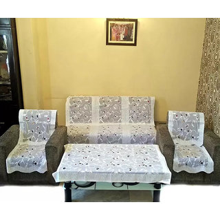 Teen patti 5 Seater kniting Sofa Cover Set -10 Pieces with 1 center table cover by vivek homesaaz