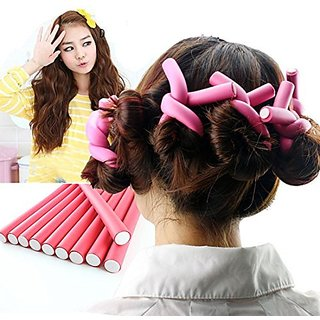 Hairstyle Foam Curler Tool Spiral Hair Bendable Foam Curler Rollers 10pieces/Pack Twist Curls Flex Rods(10pieces)