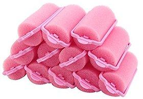 Imported 12 x Popular Magic Soft Foam Sponge Hair Curler Rollers Cushion Random Color