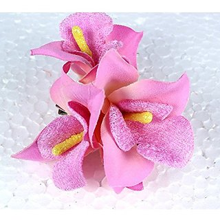 37fa6d3ee Homeoculture Violet Orchid Flower Hair Clips   Pack of 2 pieces   looks  like Natural Flower