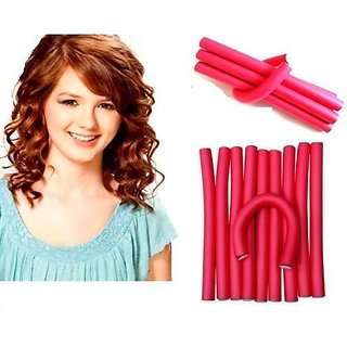 Imported 10 pieces self holding Hair Curling Flexi rods Magic Air Hair Roller Curler Bendy Magic Styling Hair Sticks hair pin