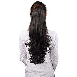 Homeoculture Halo Natural Black hair extension with Plastic clutcher 24 inches