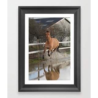 Running Horse poster (12x18 inch)