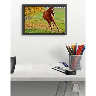 Running Horse small poster(18x12 inch)