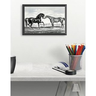 Illustrated art of Horses(18x12 inch)