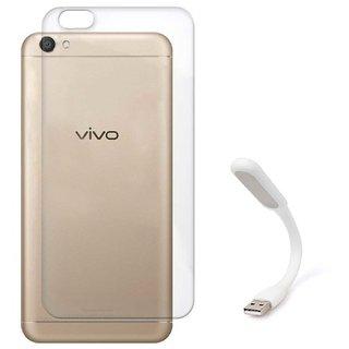 TBZ Transparent Silicon Soft TPU Slim Back Case Cover for Vivo V5 with Flexible USB LED Light Lamp