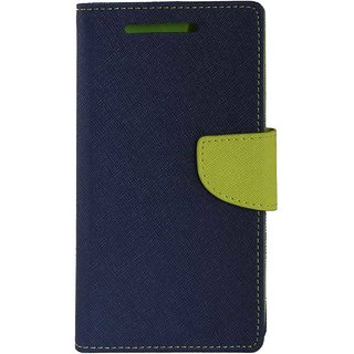 TBZ Diary Wallet Flip Cover Case for Redmi 3S -Blue-Green