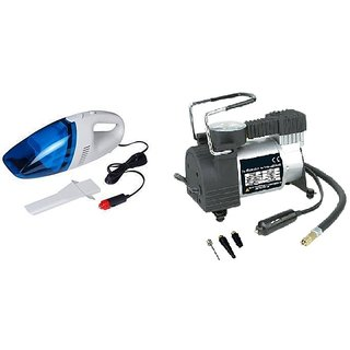 Combo for Car Vacuum Cleaner with Metal Air Compressor pump