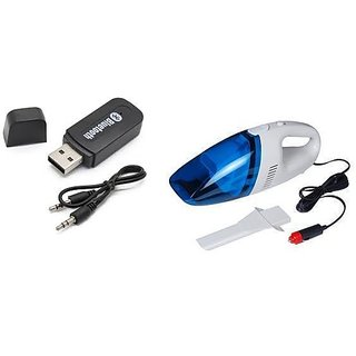 love4ride Combo for Car Bluetooth Device with Car Vacuum Cleaner