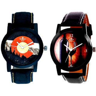 VIP Wine luxury Glass And Attractive Mount Themes SCK Combo Analogue Watch