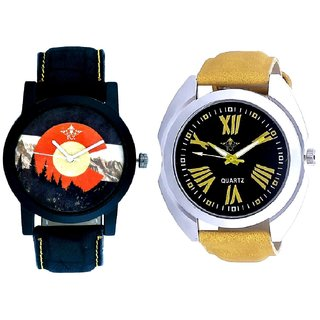 Exclusive Roman Digits And Attractive Mount Themes SCK Combo Analogue Watch
