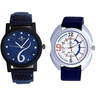 Blue Lather Design And White Dial SportSCK Combo Analogue Watch
