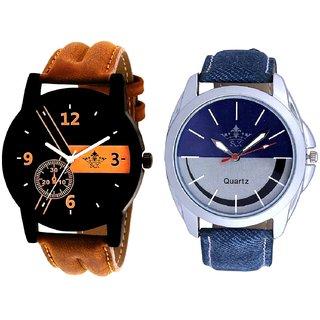 Luxury Fancy And Smiley Look Dial Analog Men's Combo Wrist Watch