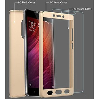 TBZ Front & Back Case Cover for Oppo F1s -Gold