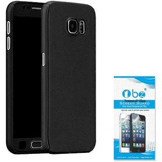 TBZ 360 Degree Protection Front & Back Case Cover Cover for Samsung Galaxy J7 Max with Tempered Screen Guard  -Black