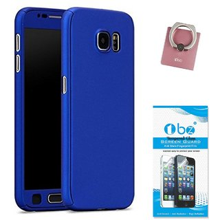 the best attitude d06ac 7123d TBZ 360 Degree Protection Front & Back Case Cover Cover for Samsung Galaxy  J7 Max with Phone Ring Holder and Tempered Screen Guard -Blue
